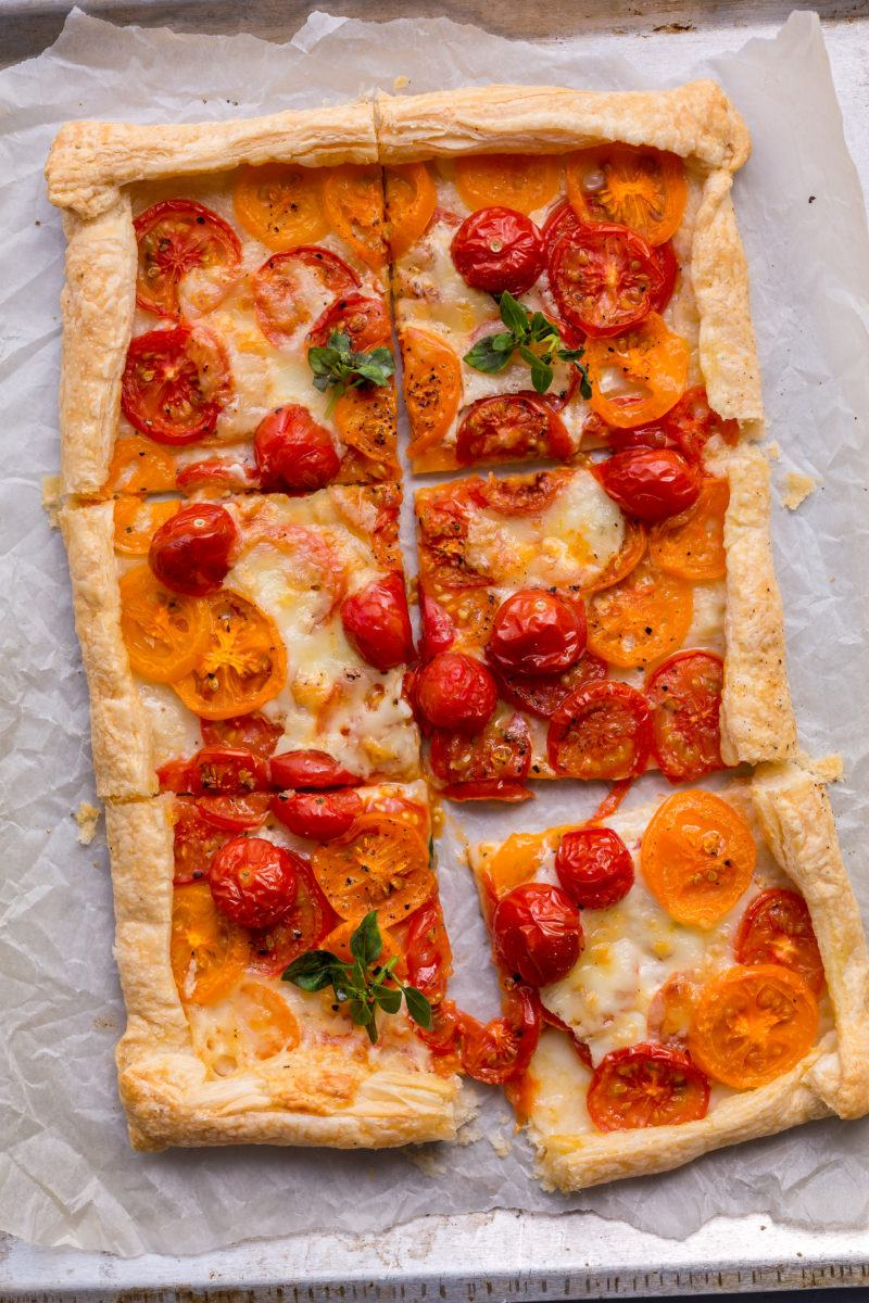 Roasted tomato tart puff pastry