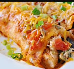 Bacon Gouda Breakfast Enchiladas