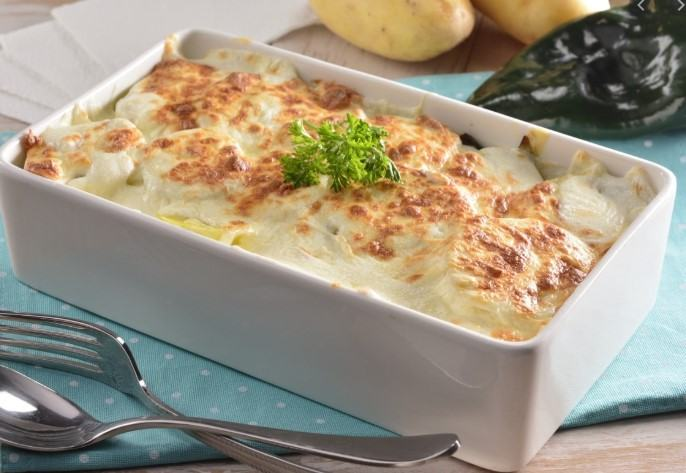 Poblano Potato Gratin