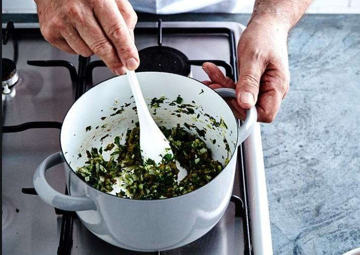 Polenta Crust Creamed Spinach Tart simple method recipe