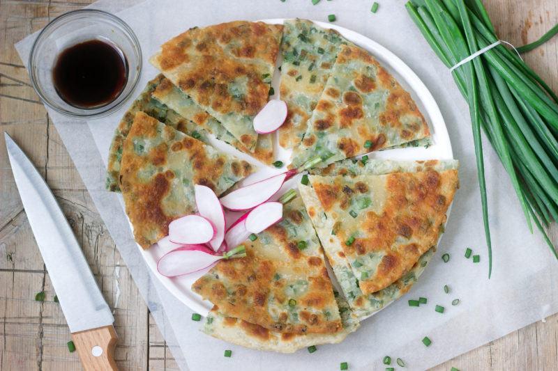 Scallion Pancakes with onion