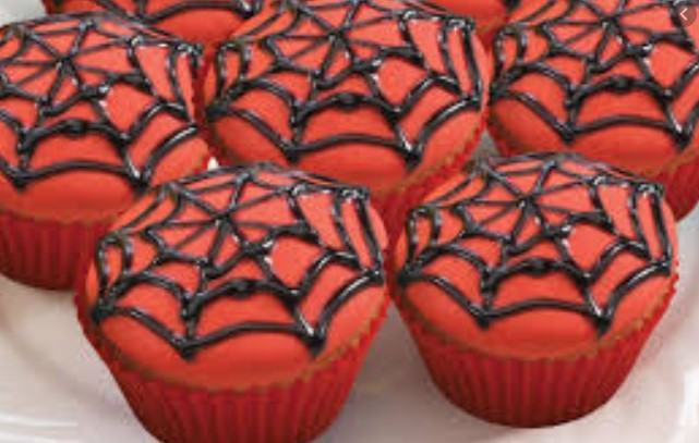 Spider Web Cupcake Topping