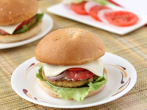 How to Make Homemade Potato Burger or Aloo Tikki Burger