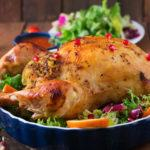 Roasted Chicken with Rice Stuffing