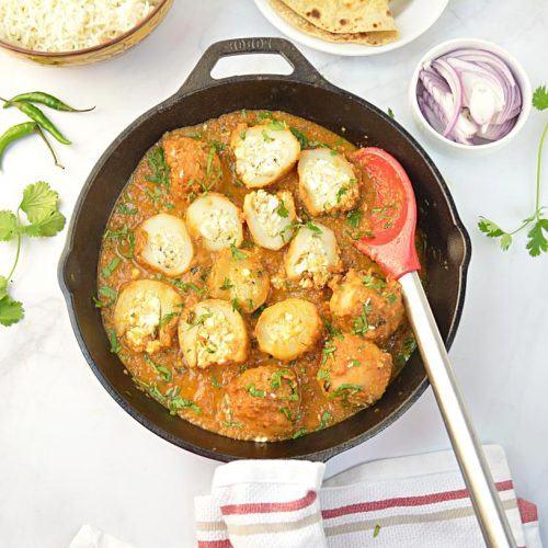 How to Prepare or Cook Bharwan Dum Aloo
