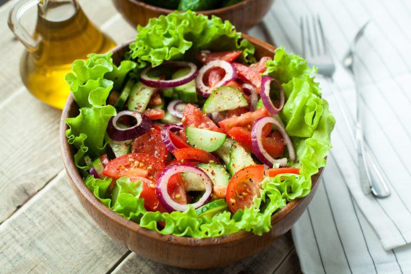 Fresh vegetable salad.