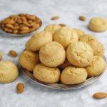 Healthy homemade almond Bake Turkish Almond Cookie on concrete
