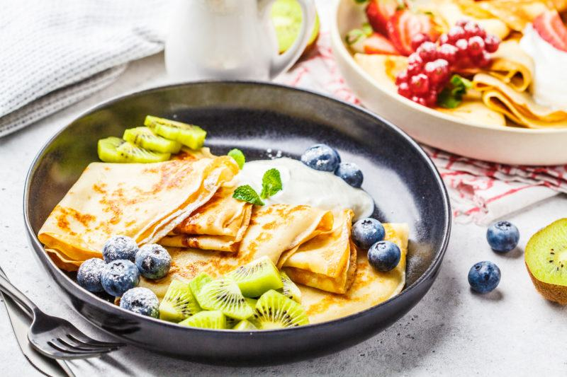 How to Make Blueberry Cream Cheese Crepes - 5 easy steps 1