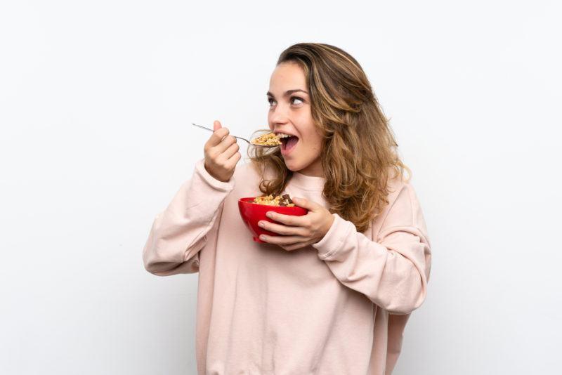 Eat Crispy Vermicelli Rice Noodles