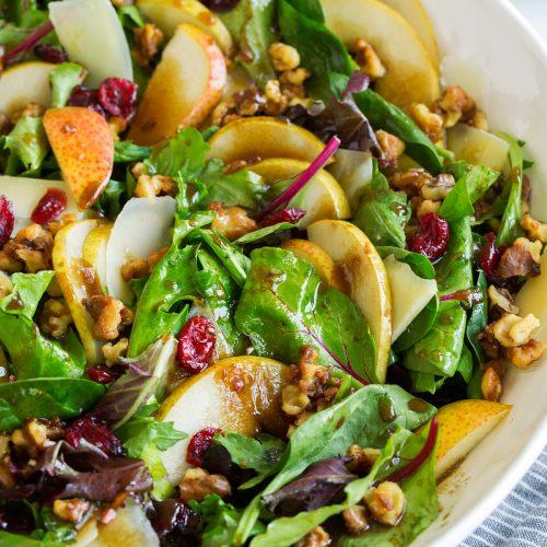 How to Make Steakhouse Salad with Fig Balsamic Dressing