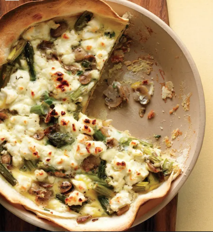 Cauliflower Quiche with Goat Cheese