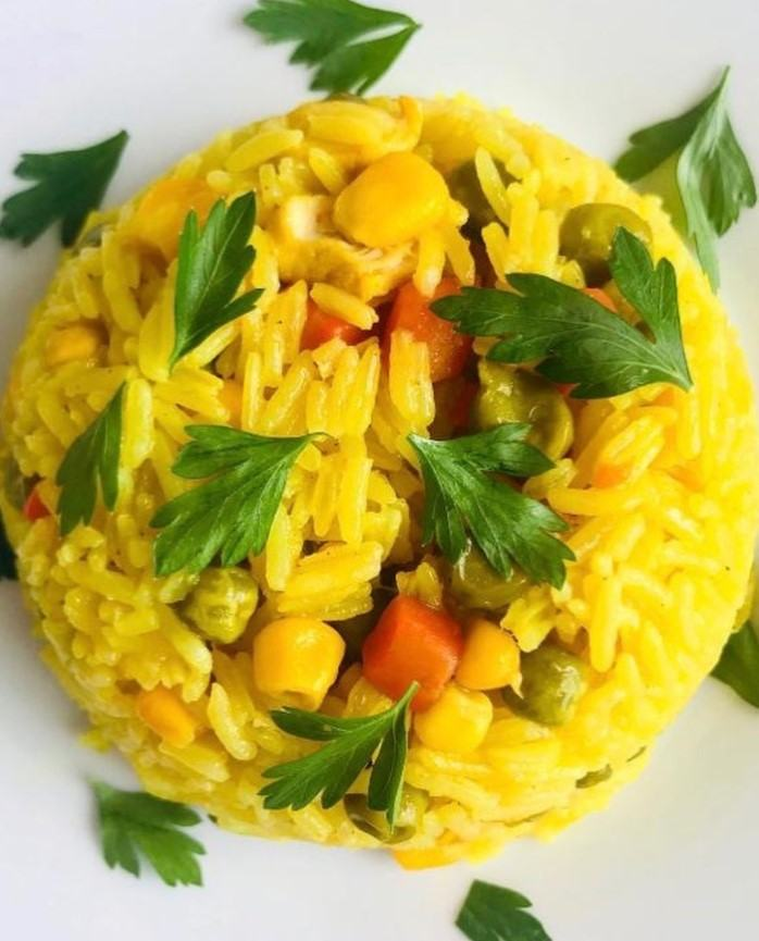 SOUTH AFRICA VEGGIE YELLOW RICE